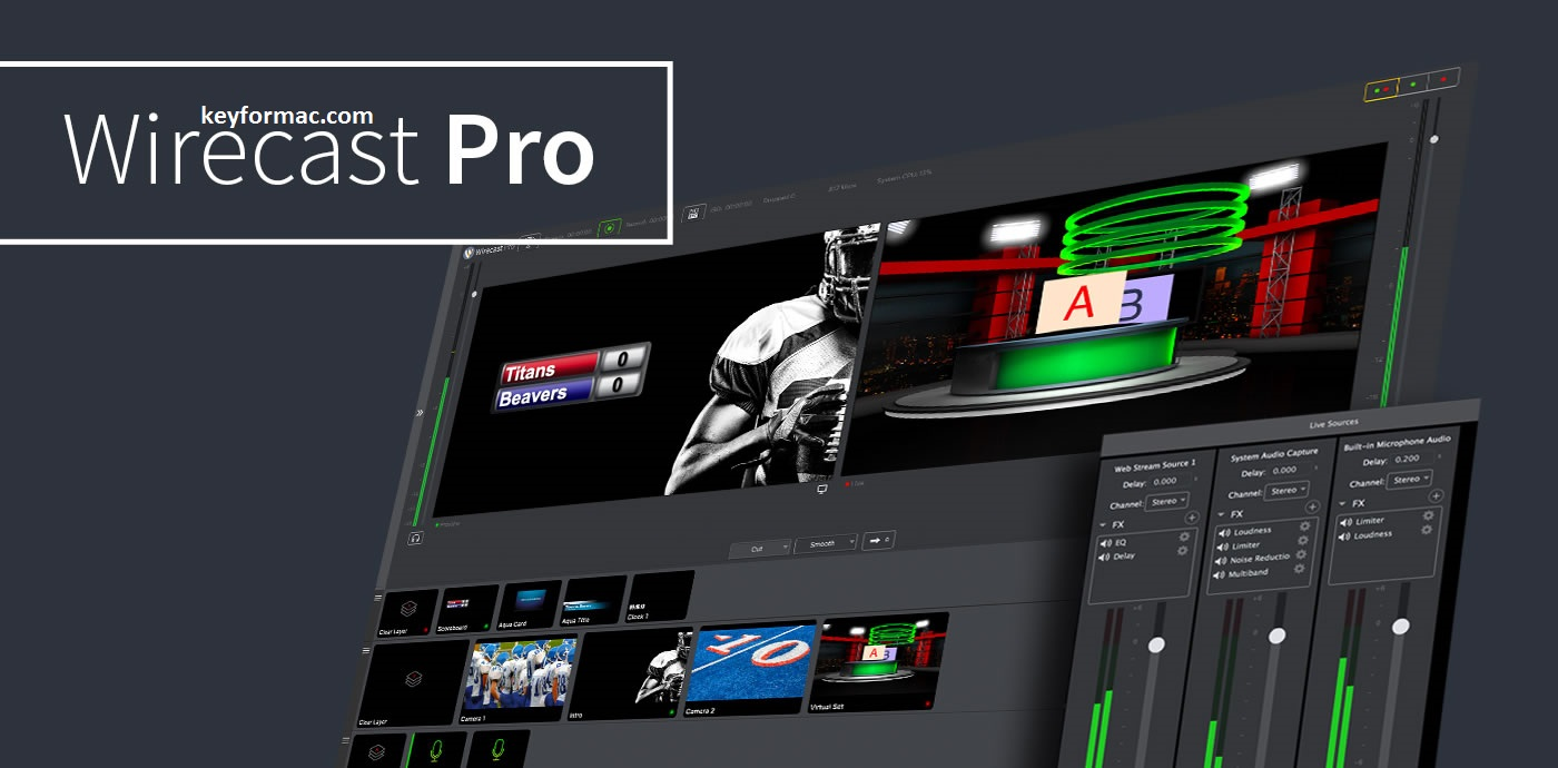 Wirecast Pro 14.0.1 Crack Plus Serial Number 2020 [Latest] Download
