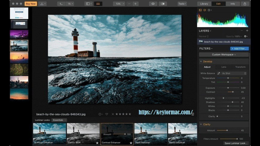 Luminar Video Editor For Mac 4.3.0 Crack + Activation Key Free Download